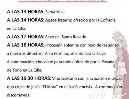 La Seca celebrará el martes 24 de enero su patrona Nuestra Señora Virgen de La Paz