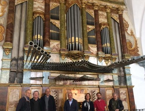 Organistas suizos, de visita en órganos barrocos de la comarca, hacen escala en La Seca