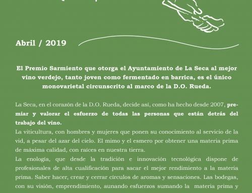Los Premios Sarmiento pondrán en valor a los mejores vinos de verdejo de la D.O. Rueda en su duodécima edición