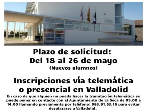Admisión nuevos alumnos en el CEIP César Bedoya Curso 2020/21