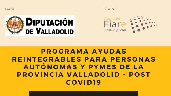 Ayudas directas para emprendedores con un importe de 120.000 euros (Diputación de Valladolid)