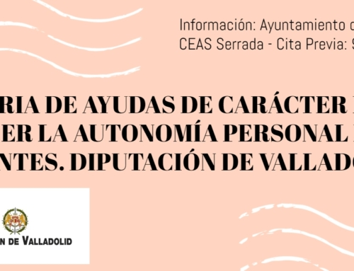 AYUDAS DE CARÁCTER INDIVIDUAL PARA FAVORECER LA AUTONOMÍA PERSONAL DE PERSONAS DEPENDIENTES 2021