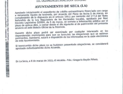 BOPVA – Ayuntamiento de La Seca