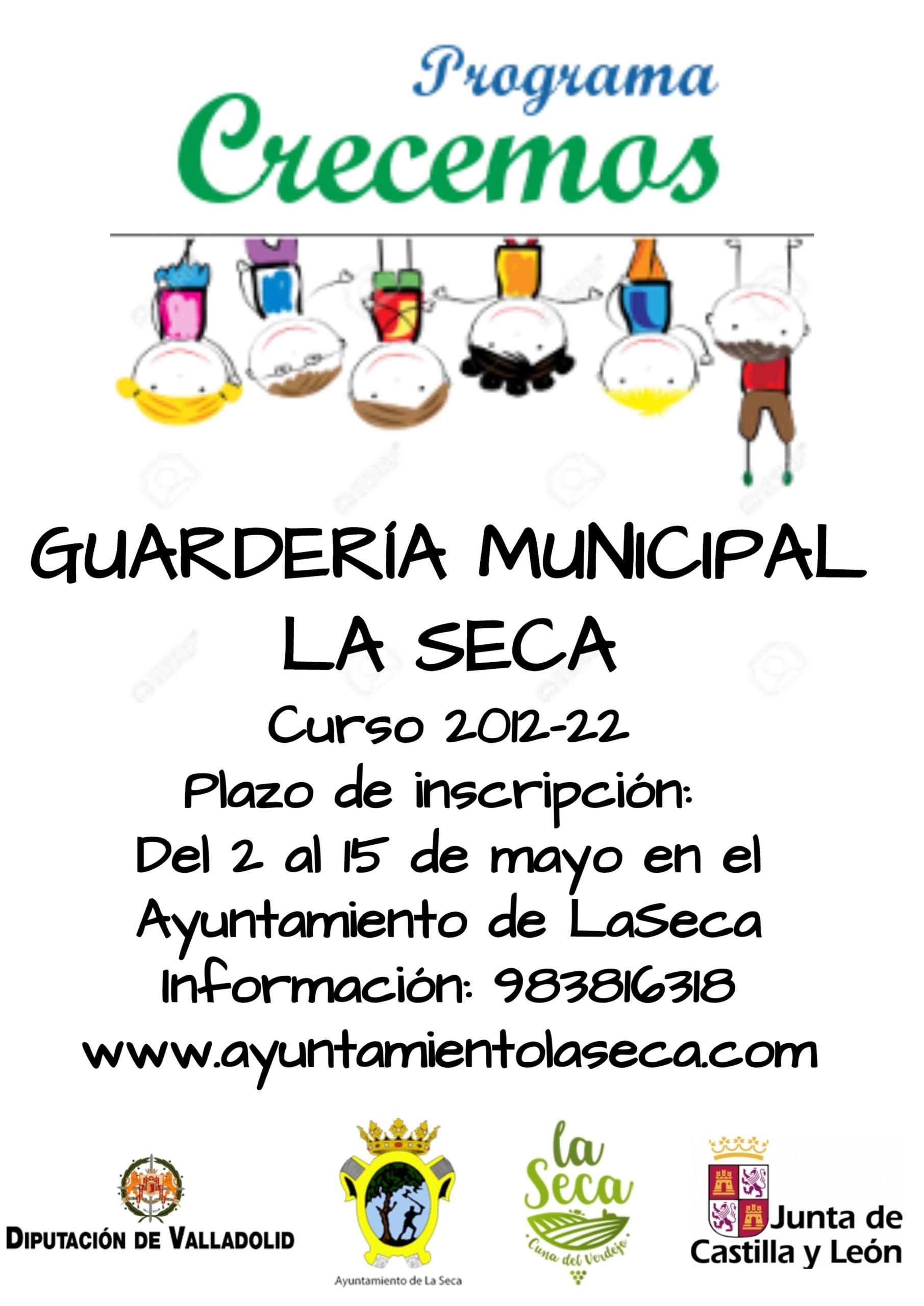 Guardería Municipal de La Seca. Plazo de inscripción curso 2021/22