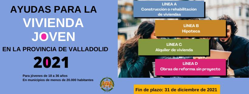 Subvención Vivienda Joven 2021 Diputación de Valladolid